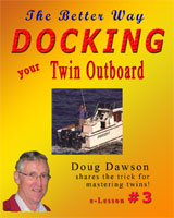 Houseboat Books Docking Twin Outboard